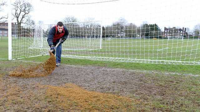 sanding goalmouth